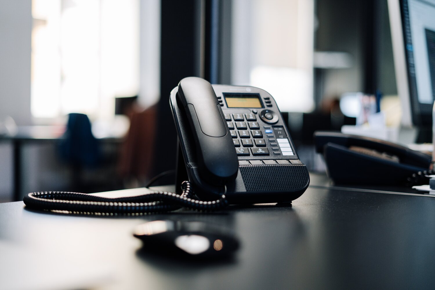 office phone and intercom to deal with business complaints